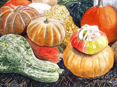 Ma. Mass Painting - Gourds by Carol Flagg