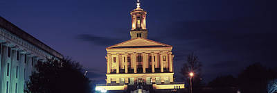 Government Building At Dusk, Tennessee Print by Panoramic Images