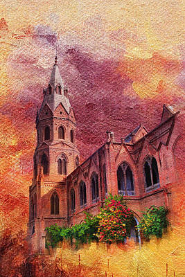 Lahore Painting - Government College Lahore by Catf