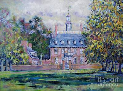 Green Beans Painting - Governor's Palace Welcome by Larry Lerew