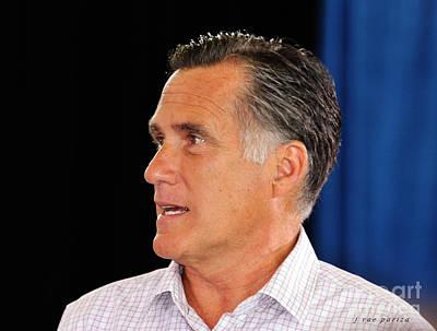 Mitt Romney Photograph - Govorner Mitt Romney by Janice Rae Pariza