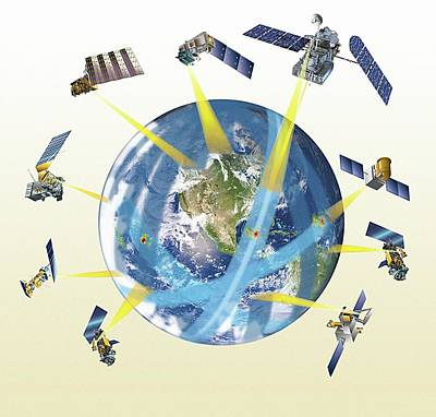 Gpm Satellite Constellation Print by Nasa/goddard