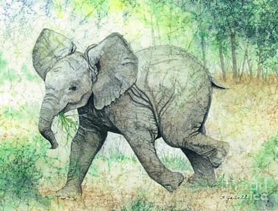 Jungle Animals Painting - Grabbing A Snack by Barbara Jewell