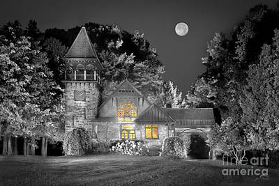 Trees Photograph - Selective Color Of Grace Memorial Chapel In Hague Ny  by Jim Swallow