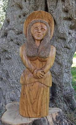 Olive Wood Sculpture Sculpture - Grace  by Eric Kempson