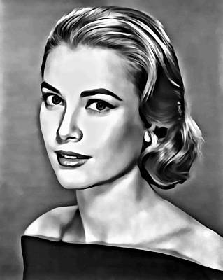 Celebrities Painting - Grace by Florian Rodarte