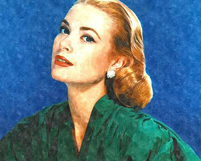 Grace Kelly Painting Print by Gianfranco Weiss