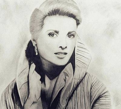 Grace Kelly Drawing - Grace Kelly by Sarah Mirza