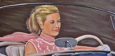 Grace Kelly Painting - Grace Kelly - To Catch A Thief by Kevin Hughes