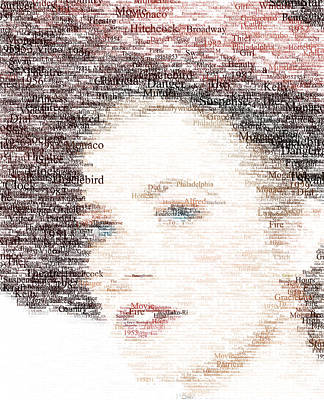 Grace Kelly Digital Art - Grace Kelly Typo by Taylan Soyturk