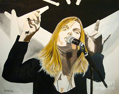 Asheville Artist Painting - Grace Potter At The Peel by Stuart Engel