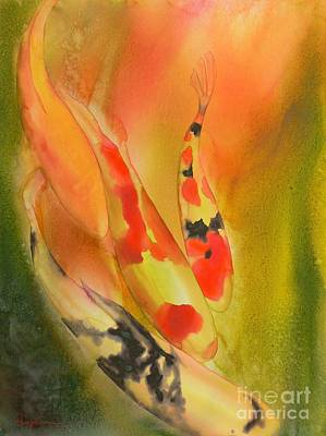 Koi Fish Painting - Grace by Robert Hooper