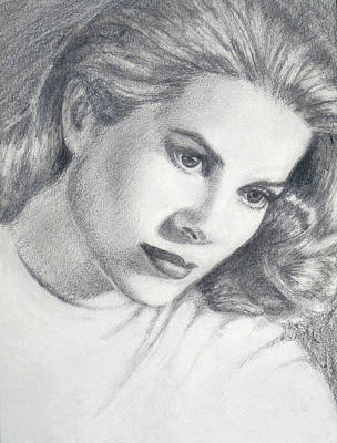 Grace Kelly Drawing - Grace by Sarah Parks