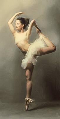 Graceful En Pointe Ballerina Print by Georgiana Romanovna