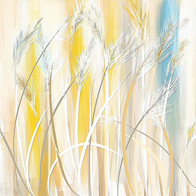 Bright Colors Painting - Graceful Grasses by Lourry Legarde