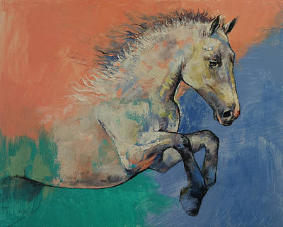Collectible Art Painting - Graceful Jets by Michael Creese