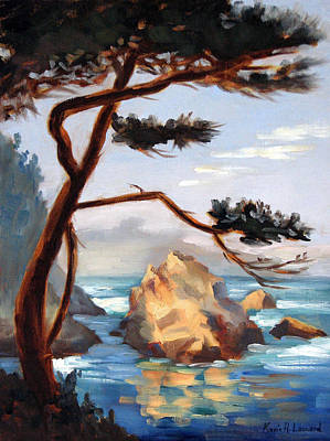 Graceful Pine Pt. Lobos Print by Karin  Leonard