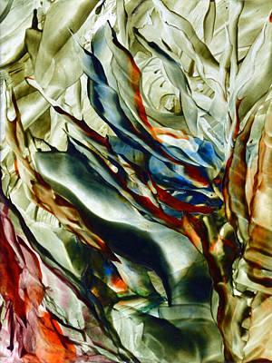 Hot Wax Painting - Graceful Seaweeds by Anne-Marie Coadebez