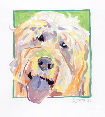 Canine Art Painting - Gracie by Kimberly Santini