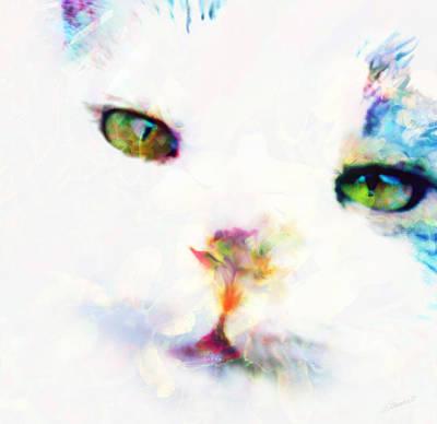 Eyes Mixed Media - Gracie by Maria Eames