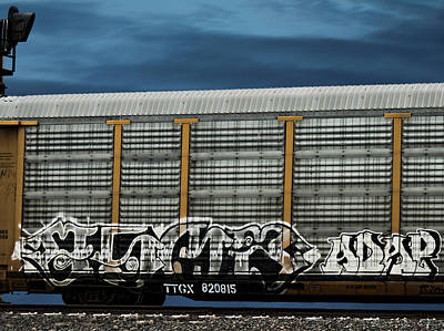Graffiti - Black And White Night Print by Graffiti Girl