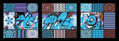 Graffiti - Blue Eye Trio Panel Print by Graffiti Girl