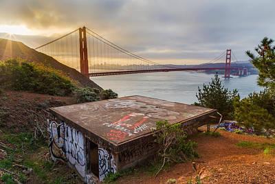 Graffiti By The Golden Gate Bridge Print by Sarit Sotangkur