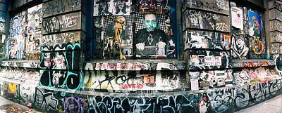 Bowery Photograph - Graffiti Covered Germania Bank Building by Panoramic Images