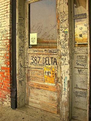 Ground Zero Digital Art - Graffiti Door - Ground Zero Blues Club Ms Delta by Rebecca Korpita