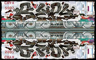 Graffiti - Double Black Graff Print by Graffiti Girl