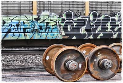 Graffiti - Graff And Wheels Print by Graffiti Girl