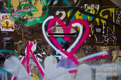Graffiti Heart Print by Victoria Herrera