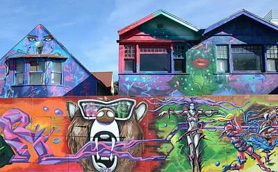 Graffiti House Print by Fraida Gutovich