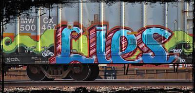Graffiti - Lies Print by Graffiti Girl