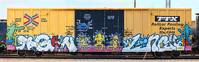 Train Photograph - Graffiti - No Evil by Graffiti Girl