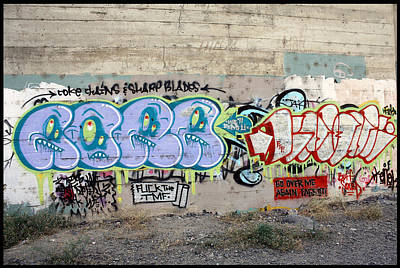 Graffiti Spokane 3 Print by Ellen Tully