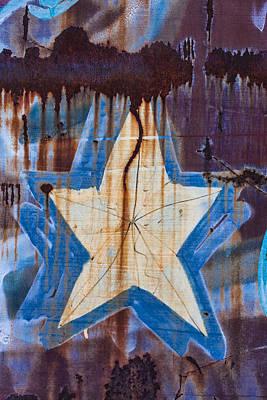 Graffiti Star Print by Carol Leigh