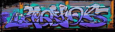 Graffiti Tangled Purple Print by Graffiti Girl