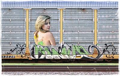 Graffiti - Tinkerbell Print by Graffiti Girl