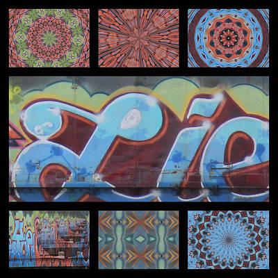 Kaleidoscope Photograph - Graffiti - Triptych IIi by Graffiti Girl