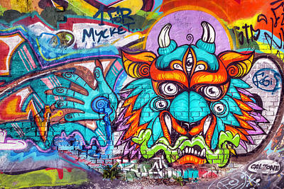 Manga Photograph - Graffiti Wall Art Tengu by EXparte SE