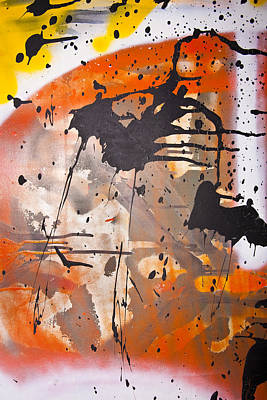 Grafitti Abstract Print by Mark Weaver