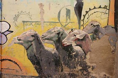 Grafity Sheep Print by Jan Katuin