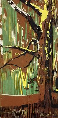 Printmaking Mixed Media - Grain 1 by Luke Keown
