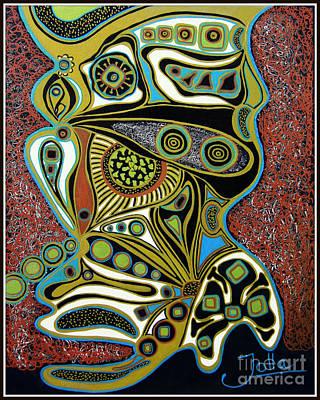 Tapestries Textiles Painting - Grain De Folie.. by Jolanta Anna Karolska