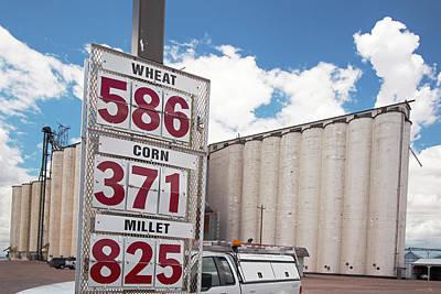 Bushels Photograph - Grain Prices by Jim West