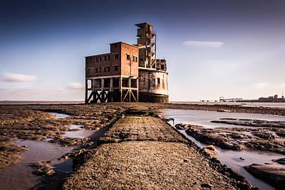 Grain Tower Battery. Print by Ian Hufton