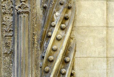 Granada Cathedral Doors And Other Details Print by Guido Montanes Castillo