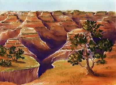 Drawing Painting - Grand Canyon by Anastasiya Malakhova