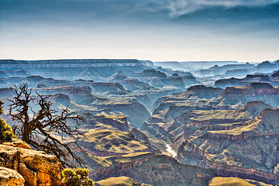 Grand Canyon Photograph - Dusk At The Canyon by Tod and Cynthia Grubbs